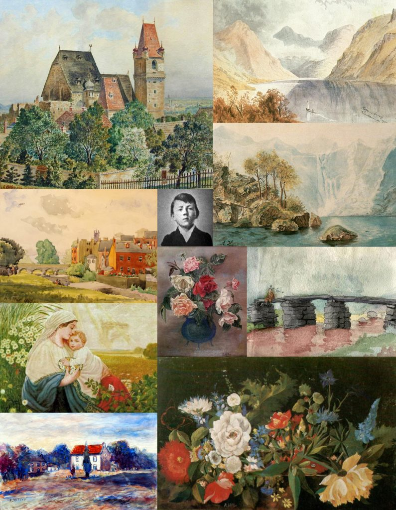 Collage of Hitler paintings / Collage von Hitler-Gemälden